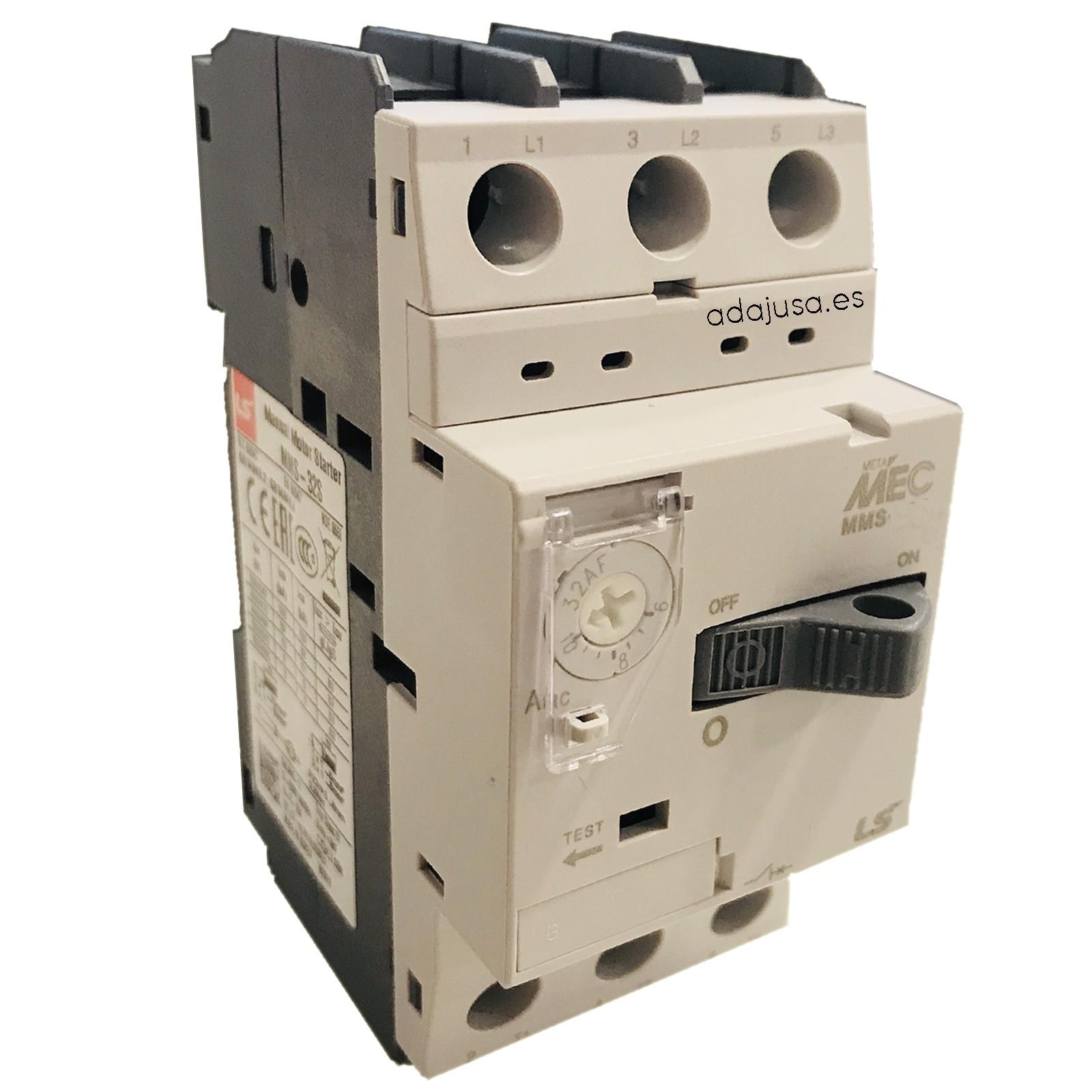 Disjuntor de proteção do motor 1,6 a 2,5 A MMS-32S - LSis